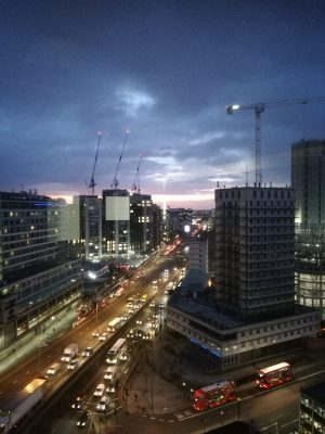 burne night view